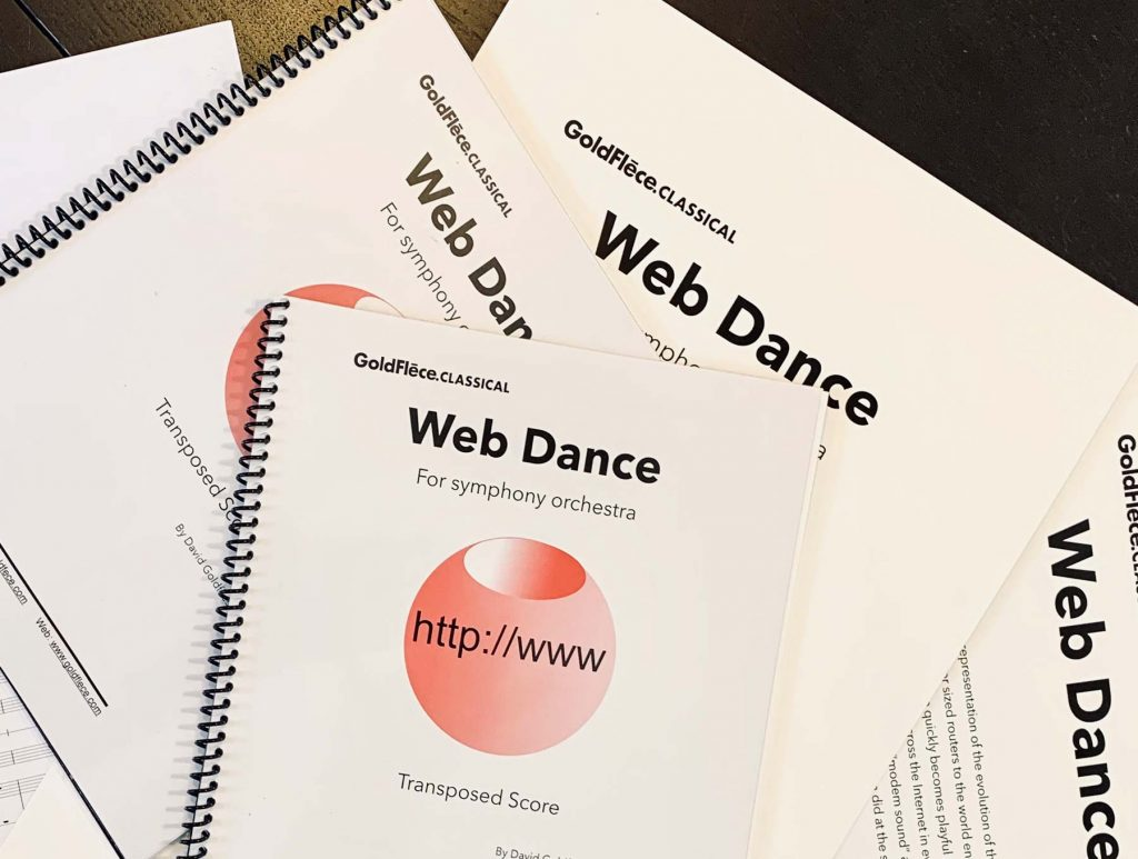 Web Dance for symphony orchestra